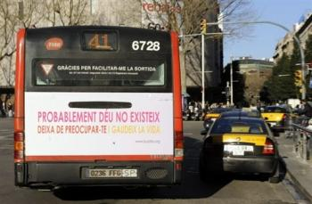 Photo AFP - bus barcelonais.