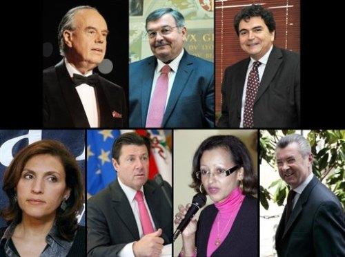 Mitterrand-Mercier-Lellouche-Berra-Estrosi-Penchard-Rancourt